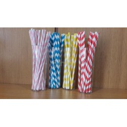 Lined drinking straws