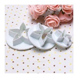 Rose 3 piece cookie cutter