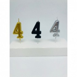 5 cm metallic number candle 4