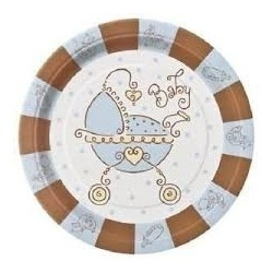 Baby Joy blue plate 8 pcs