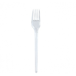 Plastic fork transparent...