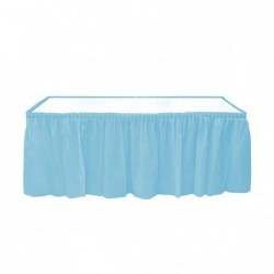 Light blue table skirt