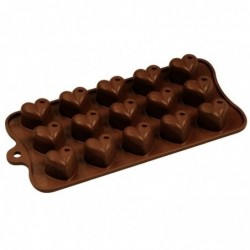 Silicone chocolate heart mold
