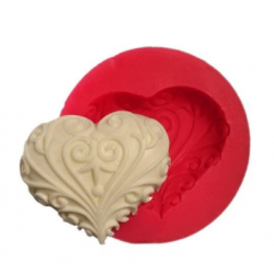 Soap shape patterned heart